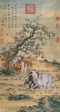 清-郎世宁-神骏图-北京海士德2010秋 | Horse Painting @ China Online Museum | China Online Museum - Chinese Art Galleries | Flickr