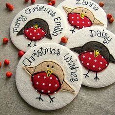 Personalized Christmas Robin Mirror