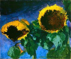 "Emil Nolde ""Girasoli"", 1932 Olio su tela, 73,7 × 88,9 cm Detroit Institute of Arts, Gift of Robert H. Tannahill (54.460) © Nolde Stiftung Seebüell #impressionistipicasso"