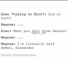 Malec Magnus and Alec Shadowhunters TMI The Mortal Instruments