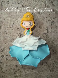 *POLYMMER CLAY ~ Cinderella flower dress polymer clay by Nakihra Fimo Creations, via Flickr