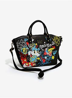 Super drawn to this cute bag   Loungefly Disney Minnie Mouse Scribble Art Satchel