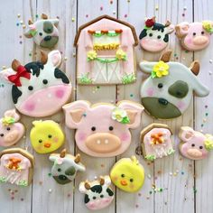 Happy barnyard cookie set
