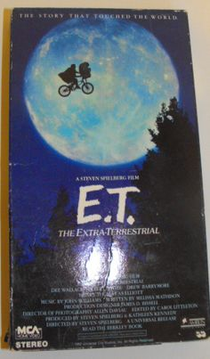 E.T. on VHS!