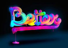Lettering Experiments on Behance by José Bernabé Tattoo Lettering Fonts, Cool Lettering, Typography Letters, Typography Poster, Graphic Design Typography, Graphic Design Illustration, Neon Logo, Signage Design, Grafik Design