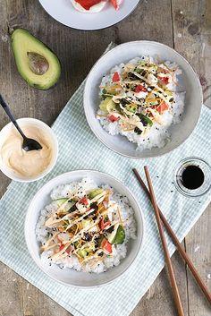 California Roll Sushi Salade   Brenda Kookt!   Bloglovin'