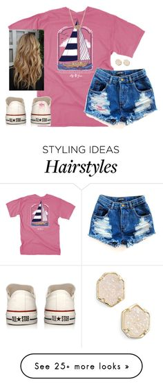 """""""In a sea of people, my eyes will always search for you."""" by kaley-ii on Polyvore featuring Converse and Kendra Scott"""