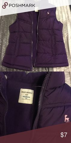 Kids girls Old Navy purple vest size M Purple padded vest for cooler fall days from old navy for girls size medium or size 8. In great condition, only been worn a few times. Old Navy Jackets & Coats Vests