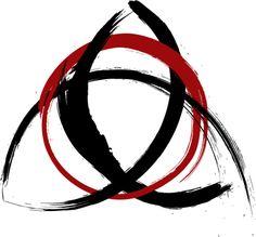Brushed trinity symbol by PuriChristos, via Flickr
