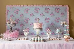 Pink and Teal Ballerina Birthday Party Lunch
