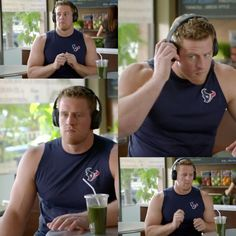 Houston Texans Twitter - 10.12.16 - Bose Noise Canceling Headphones Commercial - JJ tuning out and drumming 😄