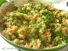 » Quinoa cu legume bio hiposodateCulorile din Farfurie Fried Rice, Quinoa, Fries, Ethnic Recipes, Food, Essen, Meals, Nasi Goreng, Yemek