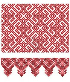 there is a Ukrainian folk embroidery (handmade) Stock Photo