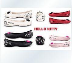 New Hello Kitty McCall Crocs Comfort Mary Jane flat shoes 38/UK5-5,5/US7,5-8 musta/vaaleanpunainen