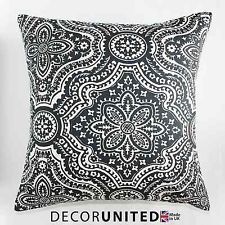 "GREY CHARCOAL NATURAL CUSHION COVER 18x18"" *SALE* By Decor United"