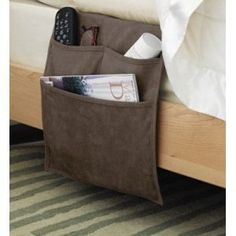 bed organizer pattern | Bed Pocket Organizer Caddy ...