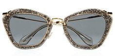 MuiMui Glitter Sunglasses
