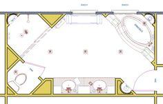 Bath floor plan on pinterest floor plans bathroom for Large master bathroom floor plans
