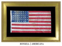45 Star Antique American Flag with an Interesting Notched Pattern