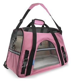Pet Carrier Soft Sided Large Cat Dog Comfort Rose Wine Pink Bag Travel Approved >>> You can find more details by visiting the image link. (This is an affiliate link and I receive a commission for the sales)