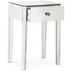 Threshold Mirrored Accent Table With Drawer, None ($80) ❤ Liked On Polyvore  Featuring