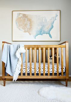 crib // rug // poster (vintage, similar here) // fringe blanket // spotted sheets (Target) no longer avail // flokati // wolf // fox Truth be told, designing spaces is more hard than it is e...