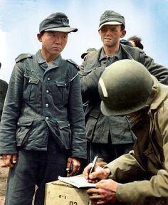 Korean soldier in the Wehrmacht in Normandy.