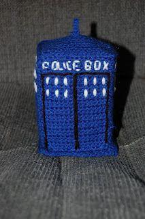 Tardis Crochet http://juliestrier.hubpages.com/hub/Free-Dr-Who-Crochet-Patterns