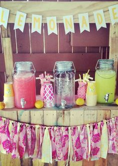 Pink Lemonade Girl Birthday Party! See more party planning ideas at CatchMyParty.com!