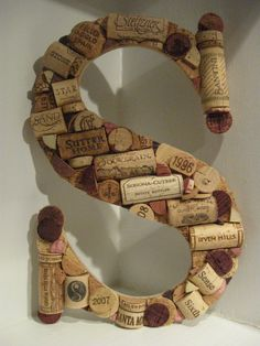 Custom Wine Cork Letter,Look at all those 'S' named wines in the letter!