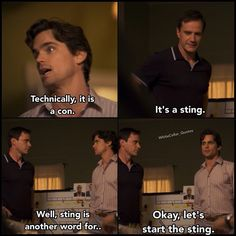 I feel like that basically describes Peter and Neal's partnership. Neal calls 'em how he sees 'em, and crime is just another Tuesday, while Peter is okay with doing questionable things as long as he can kinda make them feel legal. White Collar Quotes, Matt Bomer White Collar, Peter White, Neal Caffrey, Cops And Robbers, Cop Show, Usa Network, Criminal Minds, Favorite Tv Shows