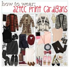 """""""How To Wear; Aztec Print Cardigans!"""" by tips-for-real-girls ❤ liked on Polyvore"""