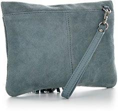 CNTMP - bolso para señora, clutches, clutch, bolsos de mano, bolsas de noche, bolsas de fiesta, bolsos de tendencia, gamuza, ante,flecos,bolso de cuero, 23 x 16, 5x1cm (l x an x a) (azul claro): Amazon.es: Equipaje