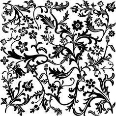 Free Scrapbooking Supplies Black and White Flower Scrapbook Paper ❤ liked on Polyvore