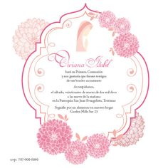 Baptism/Comunion Invitation For girl by BigloveDesignsPR on Etsy, $20.00