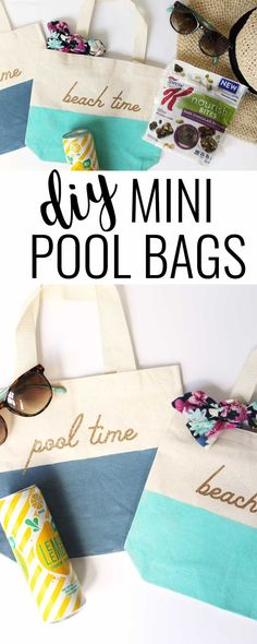 Mini pool bags and what to pack in them to make life easier and cuter this summer! #ownit #ad