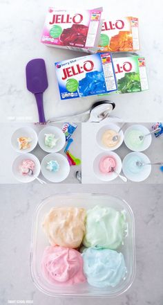 4 Ingredient Jello Ice Cream (VIDEO) is part of Jello ice cream - Jello Ice Cream JELLO SHERBET ICE CREAM! This easy recipe shows you how to make it with or without an ice cream maker and only 4 ingredients! Sherbet Ice Cream, Ice Cream Mix, Make Ice Cream, Ice Cream Maker, Homemade Ice Cream, Ice Cream Desserts, Frozen Desserts, Frozen Treats, Jello Ice Cream Recipe