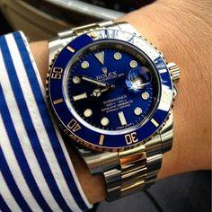 Rolex Watches For Men, Men's Watches, Sport Watches, Luxury Watches, Cool Watches, Rolex Submariner Blue, Grillz, Unique Birthday Gifts, Men Watch