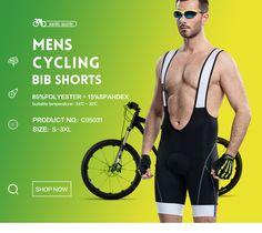 サンティック男性パッド入りサイクリングビブショーツ4dサイクリングジャージビブショーツ自転車バイクよだれかけショーツサイクリングc05031