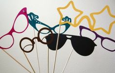 Fun Photo Booth Props?  How great would these mustaches, glasses, and lips look as part of your next party photo booth?