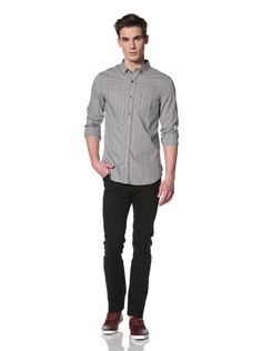 80% OFF French Connection Men's Obscura Gingham Shirt (Darkest Blue)
