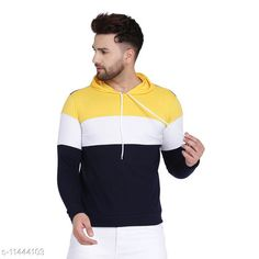 Checkout this latest Tshirts Product Name: *New Trending Mens Tshirt* Fabric: Cotton Blend Sleeve Length: Long Sleeves Pattern: Colorblocked Multipack: 1 Sizes: S (Chest Size: 38 in, Length Size: 26 in)  M (Chest Size: 40 in, Length Size: 27 in)  L (Chest Size: 42 in, Length Size: 28 in)  XL (Chest Size: 44 in, Length Size: 29 in)  Country of Origin: India Easy Returns Available In Case Of Any Issue   Catalog Rating: ★4 (421)  Catalog Name: Classic Latest Men Tshirts CatalogID_2148802 C70-SC1205 Code: 452-11444103-045
