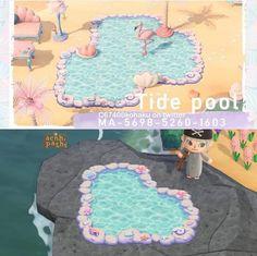 Animal Crossing Qr Codes Clothes, Animal Crossing Villagers, Animal Crossing Pocket Camp, Animal Crossing Game, Mermaid Island, Mermaid Pool, Disney Island, Motif Acnl, Nintendo Switch