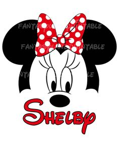 Minnie Mouse Classic Red Bow Silhouette by FantasylandPrintable