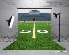 Football Field & Grass Photography Backdrop by DropsProps on Etsy, $45.00