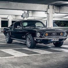 American muscle car stance.