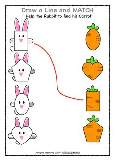Bunny Theme Shapes Activities - 10 Posters - As Told By Mom Pre K Activities, Preschool Learning Activities, Preschool Worksheets, Kids Learning, Poster S, Math For Kids, Daily Schedules, Visual Schedules, Free Images