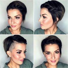 Short and medium hairstyles 2020: 150 beautiful ideas! Medium Short Hair, Very Short Hair, Short Straight Hair, Short Curly Hair, Medium Hair Styles, Curly Hair Styles, Elegant Hairstyles, Summer Hairstyles, Braided Hairstyles
