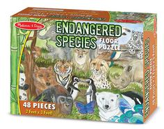Endangered Species - 48 pc piece Floor Puzzle by Melissa