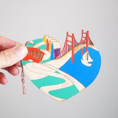 San Francisco Love wooden ornament